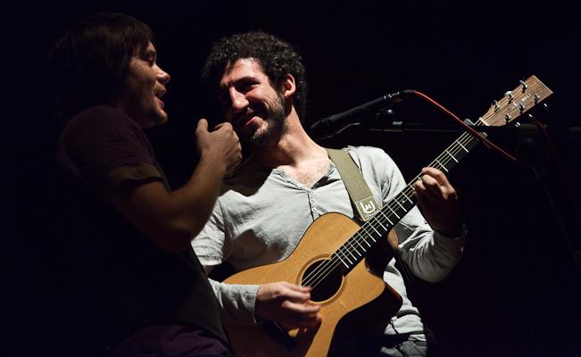 Marwan y Luis Ramiro en la Sala Borja