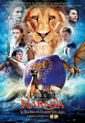 Cartel de 'Las Crónicas de Narnia: La Travesía del Viajero del Alba'