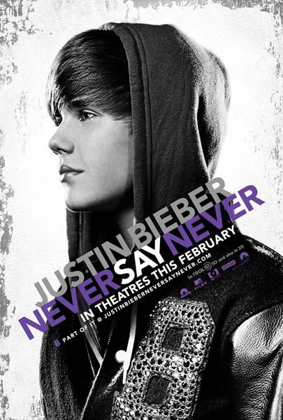 Cartel de Justin Bieber: Never Say Never