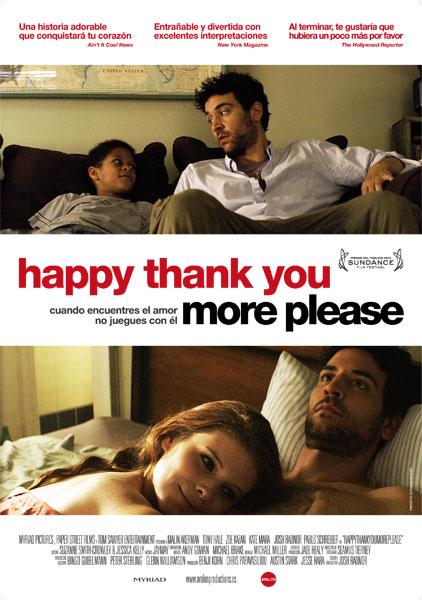 Cartel de Happy thank you more please