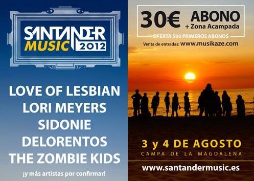Santander Music 2012 confirma fechas y los primeros nombres del cartel
