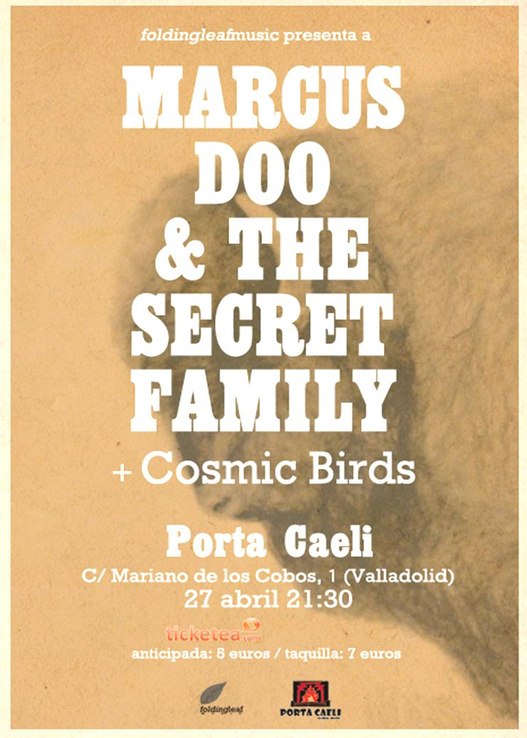 Marcus Doo & The Secret Family y Cosmic Birds en Valladolid
