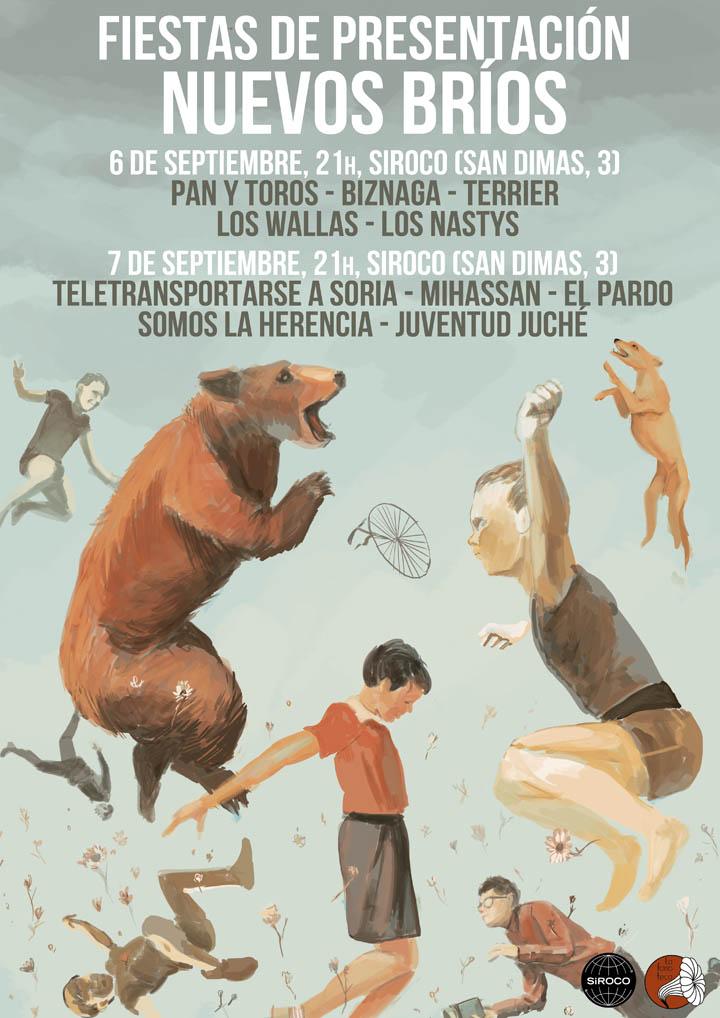 NUEVOS BRIOS 720 La Fonoteca presenta su recopilatorio Nuevos Bríos con fiesta en Siroco los días 6 y 7 de Septiembre.