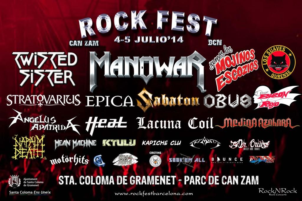 Rock fest bcn cartel definitivo notedetengas magazine for Piscina can zam