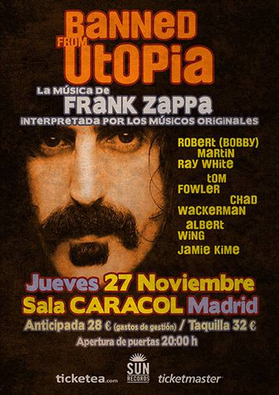 Los m sicos que acompa aron a frank zappa the band from - Utopia madrid ...