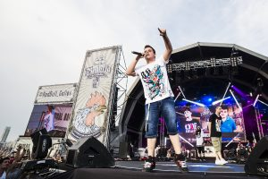 Arkano performs during the Red Bull Batalla de los Gallos National Final at Muelle de Levante in Alicante, Spain on 18th July 2015.