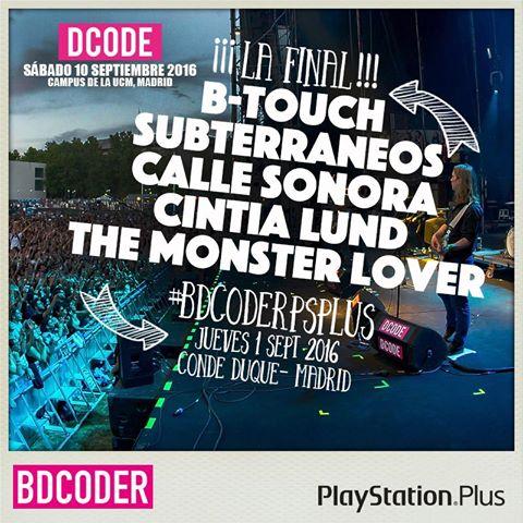 Finalistas concurso BDCODER del Dcode Festival