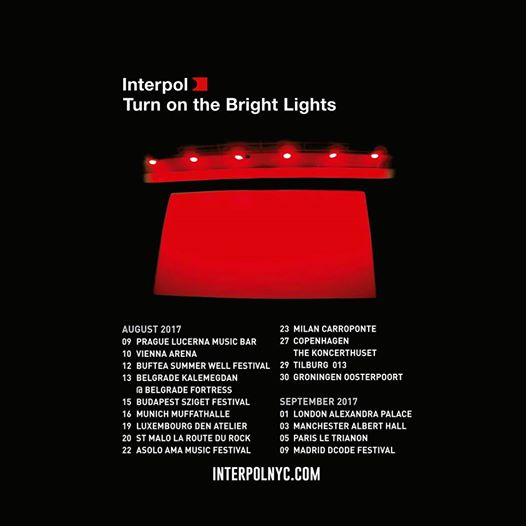 interpol quince aniversario turn on the bright lights