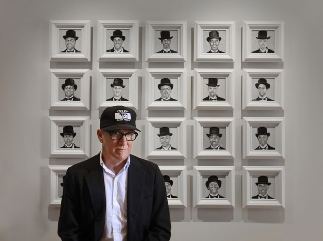 Kurt Wagner of the band Lambchop at an exhibit of his paintings at Zeitgeist Gallery in Nashville, TN