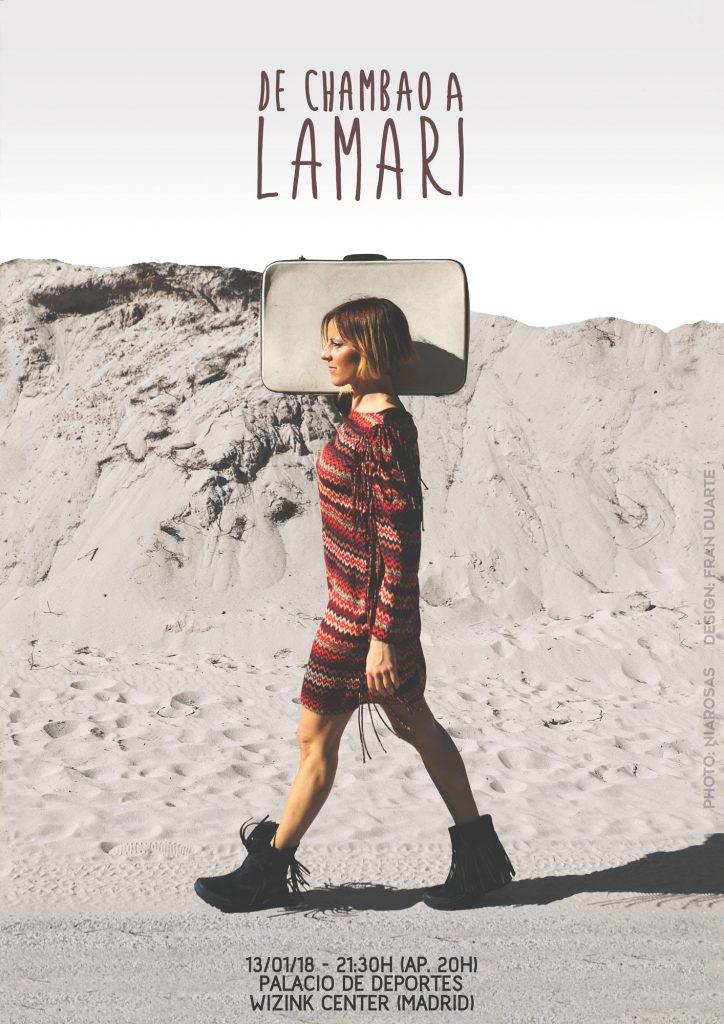 La Mari estará el 13 de enero de 2018 en el Wizink center de Madrid