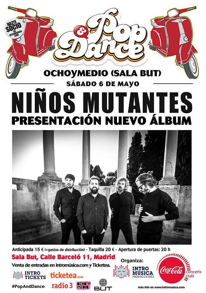 """Niños Mutantes presentan """"Diez"""" en Ocho y Medio Club (Madrid)"""