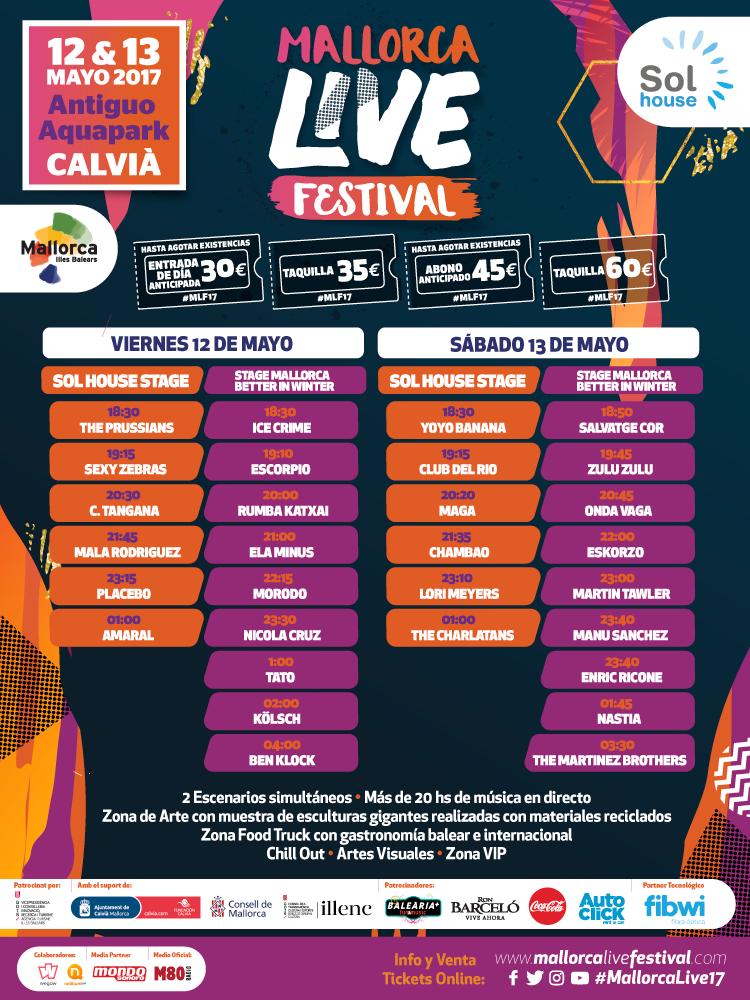 horarios mallorca live festival