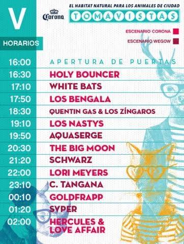Horarios Tomavistas Festival 2017