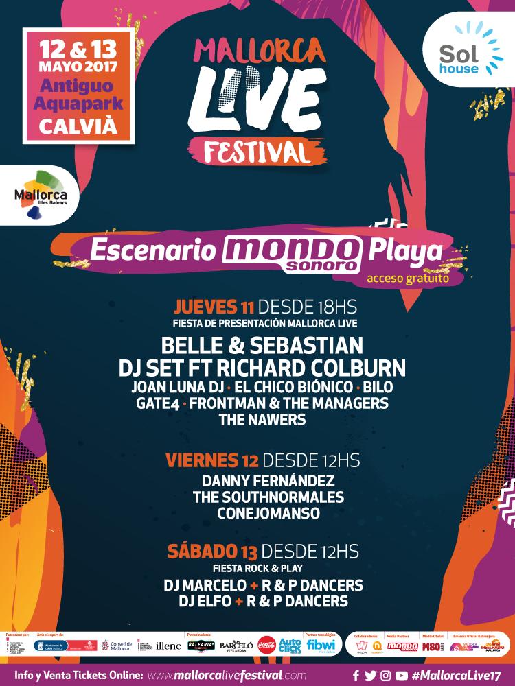 Mallorca Live Festival conciertos previos al festival 2017