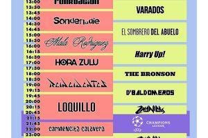 Horarios del bull music festival en granada  sábado 3 de junio