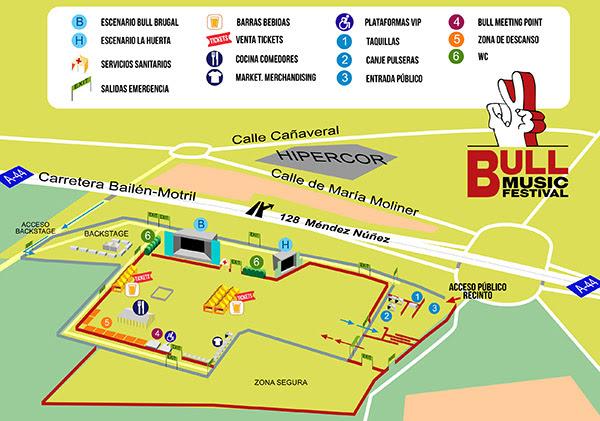 bull music festival plano acceso festival granada