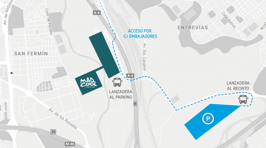 park cool : parking disponible con antelación para el mad cool festival 2017