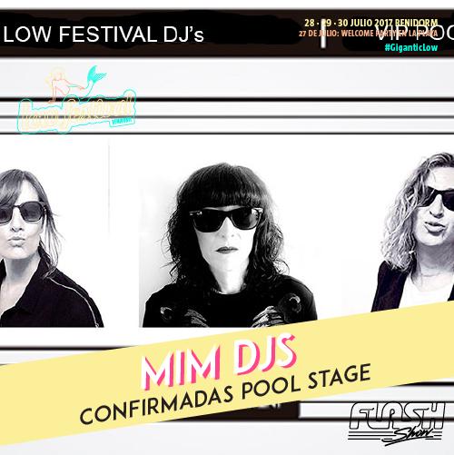 mim djs en el low festival pool stage