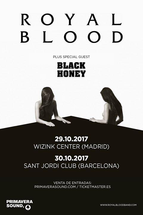 royal blood en Madrid y Barcelona en octubre.