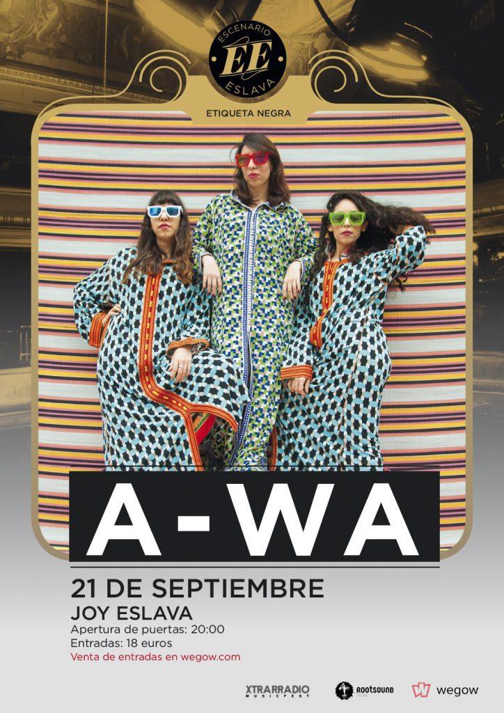 A-WA el 21 de septiembre en Escenario Eslava