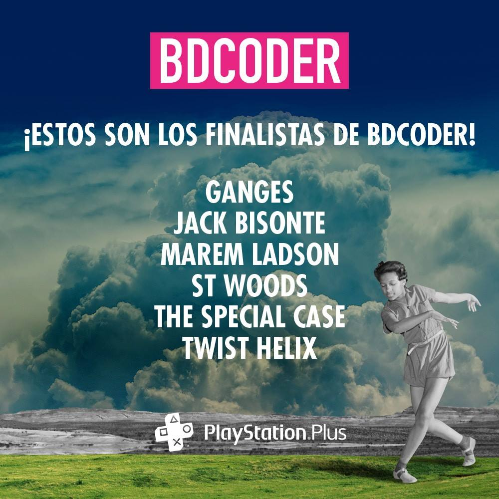 St. Woods, Ganges, The Special Case, Twist Helix, Marem Ladson y Jack Bisonte en la final del BDCODER 2017.