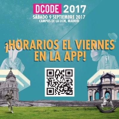 dcode horarios 2017 sábado 9 de septiembre Madrid