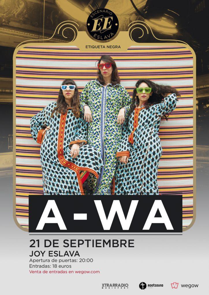 A-WA estarán el próximo 21 de septiembre en Madrid en Joy Eslava