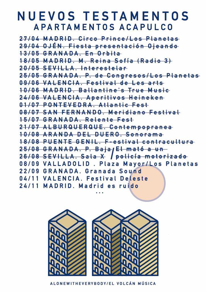 Apartamentos acapulco presentan Nuevos Testamentos este viernes en Valladolid