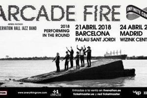 arcade fire madrid y barcelona en abril presentando everything now