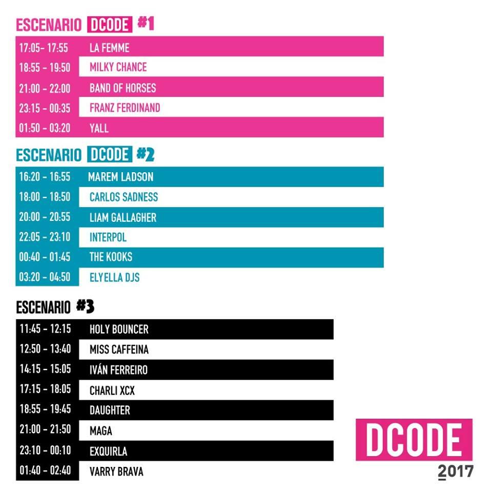 dCODE horarios 2017 madrid