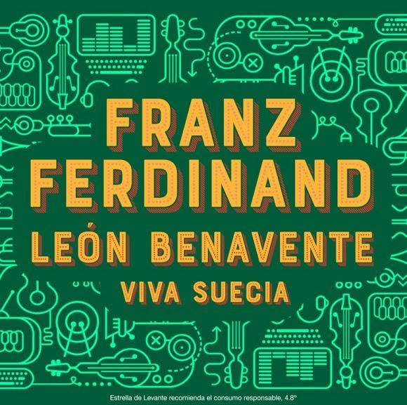 franz ferdinand, viva suecia y león benavente en welcome de estrella levante en octubre en Murcia.