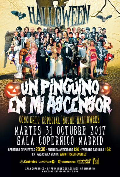 pinguino en mi ascensor halloween 2017 madrid