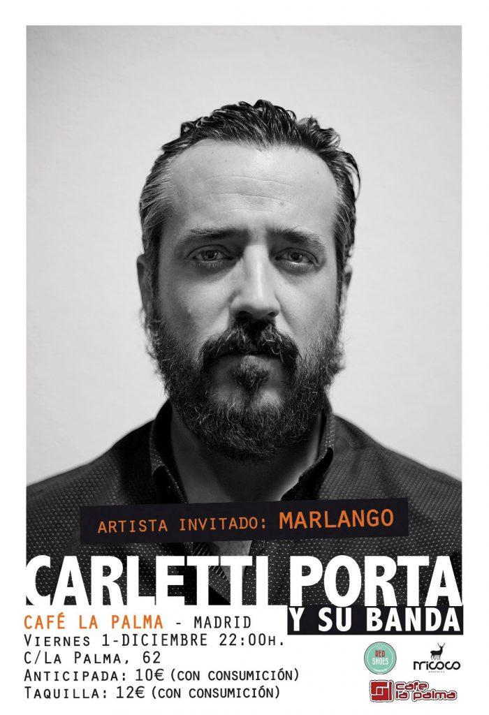 Carletti porta y su banda en la palma