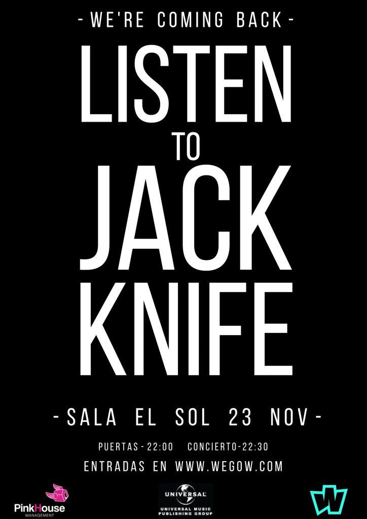 Jack Knife presentan EP este jueves en la madrileña sala El Sol.