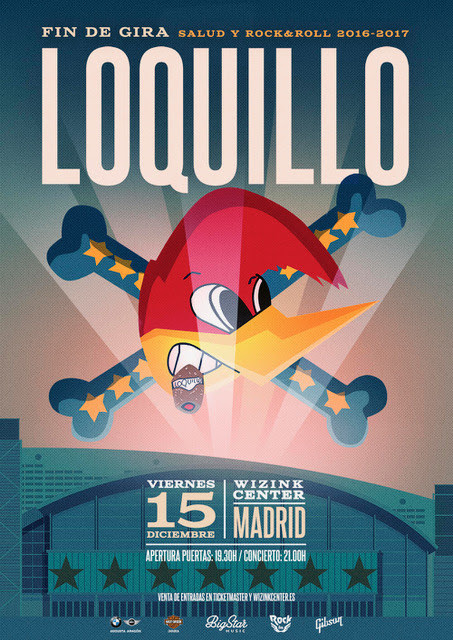 Loquillo fin de gira en Madrid Wizink Center 2017