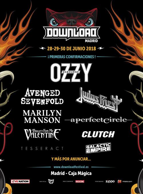 Primeros nombres Download Festival 2018 con ozzy osbourne, avenged sevenfold y más