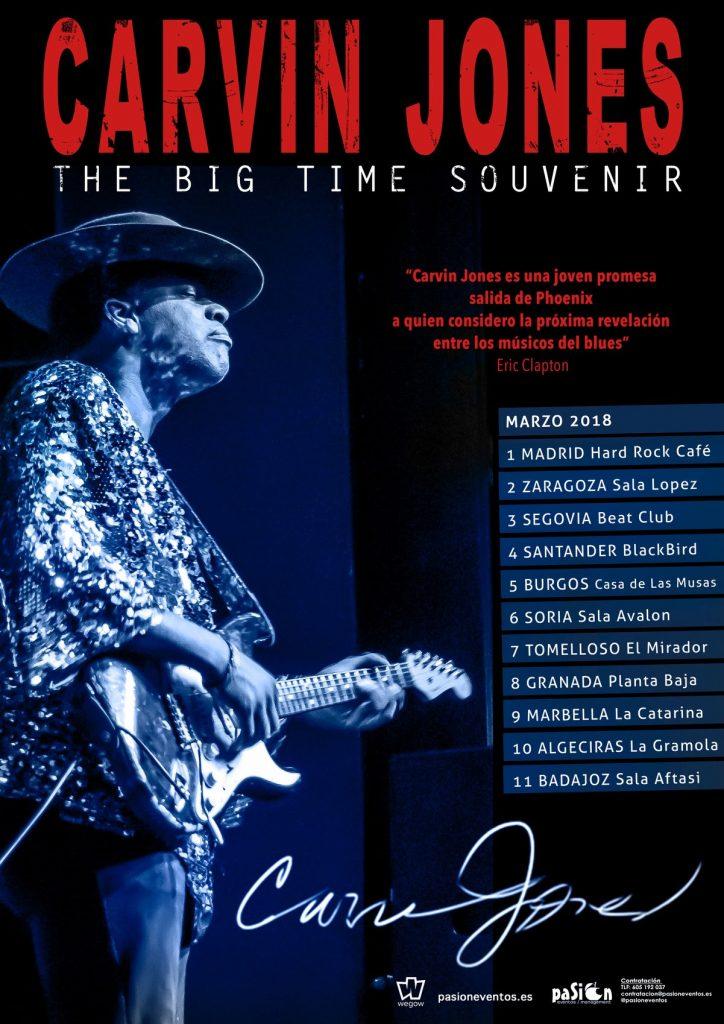 """CARVIN JONES anuncia gira para 2018 y el título de su nuevo trabajo discográfico """"THE BIG TIME SOUVENIR"""""""