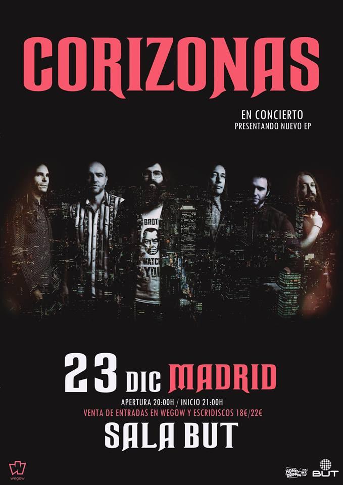 """Corizonas en Madrid presentando """"Más Allá"""" su nuevo EP"""