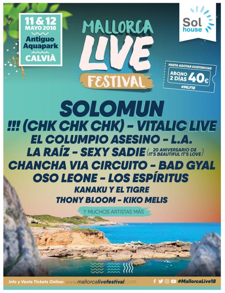Primeras confirmaciones para el Mallorca Live Festival 2018