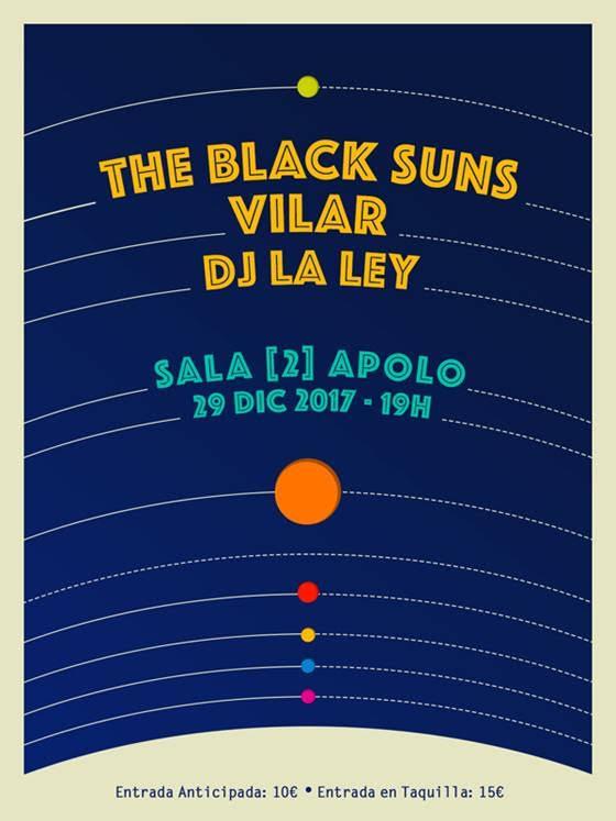 The Black Suns estará en la sala 2 de Apolo el 29 de Diciembre para presentar su disco 'Milk&Cookies'