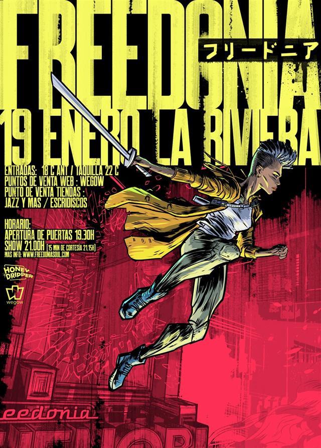 Freedonia estrenan el año con un concierto en Madrid, La Riviera, 19 de enero