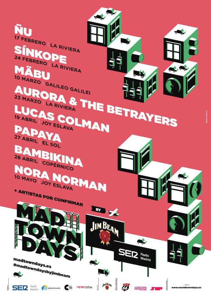El ciclo de conciertos Madtown Days by Jim Beam anuncia su programación de 2018