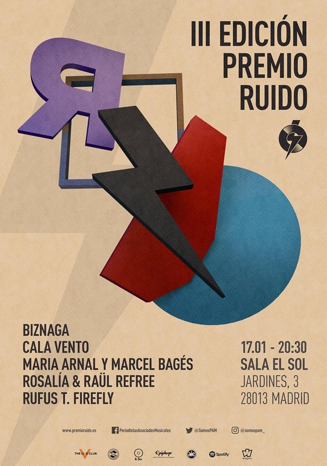 III edición premios ruido fallados por la PAM el 17 de enero en Sala El Sol