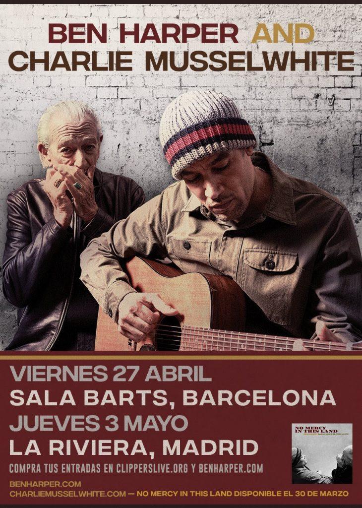 Ben Harper y Charlie Musselwhite actuarán juntos por primera vez en España esta primavera