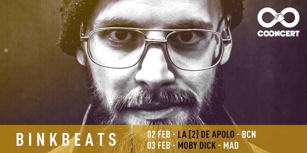 """El multi-instrumentista electrónico Binkbeats visita España para presentar su EP debut """"Private Matter Previously Unavailable Part 1"""".  Será los días 2 de febrero en La [2] de Apolo de Barcelona y el 3 en la sala Moby Dick de Madrid."""