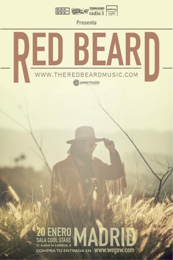 red beard concierto el 20 de enero en madrid
