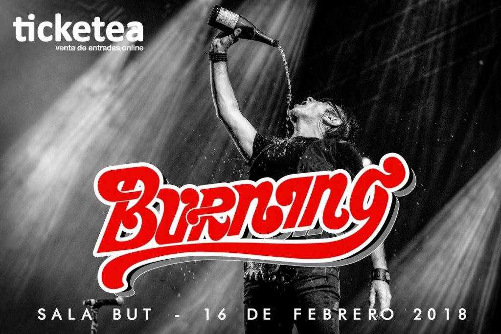 Burning cierra gira en Madrid el próximo 16 de Febrero