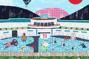 camilla perkins diseña la portada de Elastic Band para fun fun fun