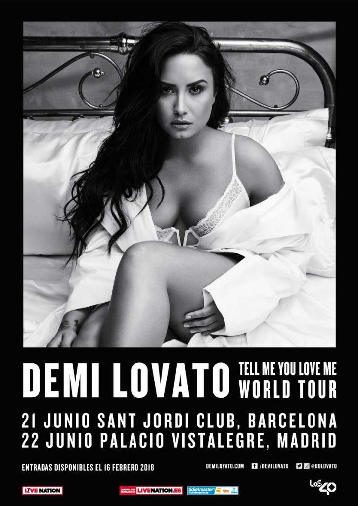 Demi Lovato anuncia gira europea, con dos conciertos en España