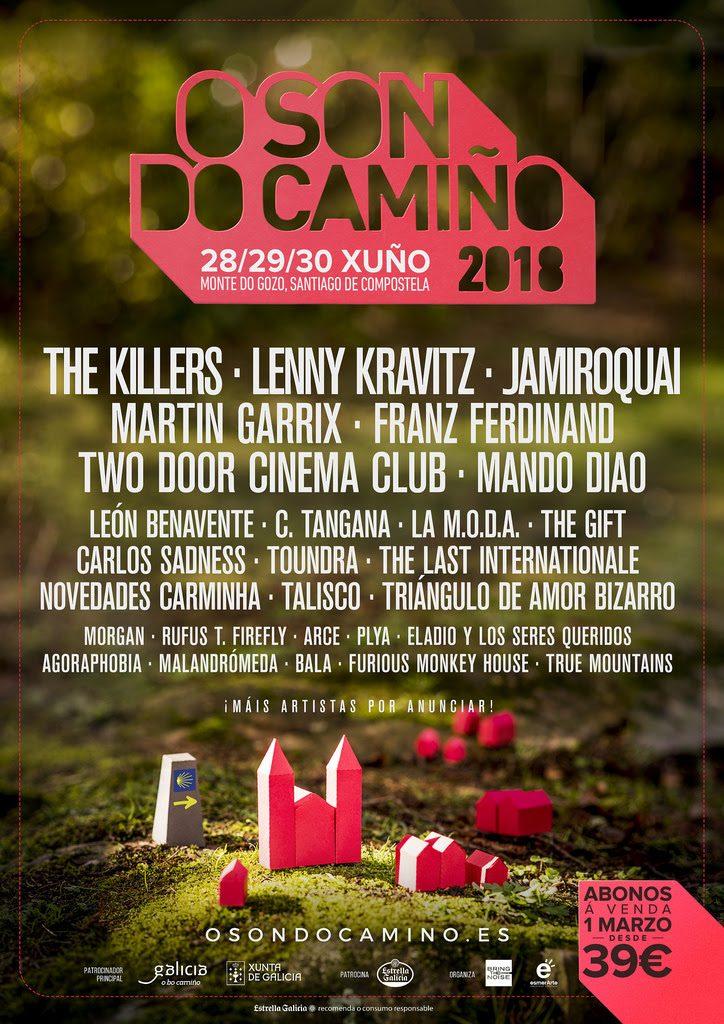 the killers, lenny kravitz y muchos más en el o son do camiño 2018